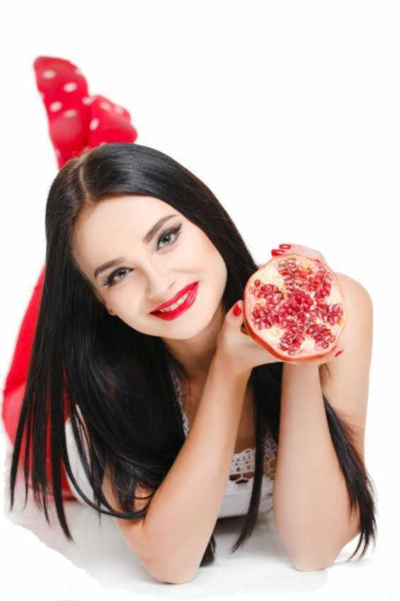 fruitonium, pomegranate, woman, fruit, berry